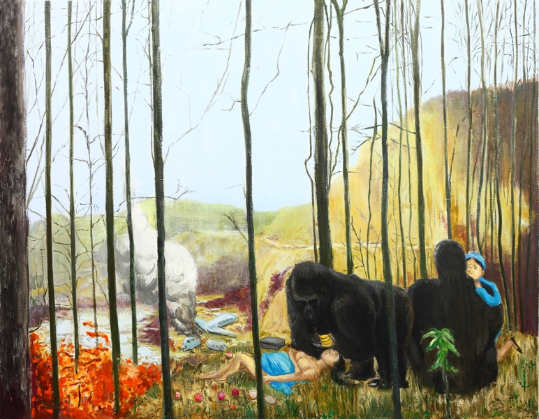 姐姐16   140x180cm   布面油画 2011 small